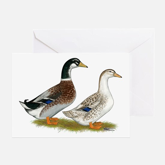 Appleyard Silver Ducks Greeting Card