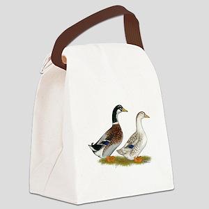 Appleyard Silver Ducks Canvas Lunch Bag