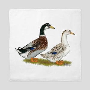 Appleyard Silver Ducks Queen Duvet