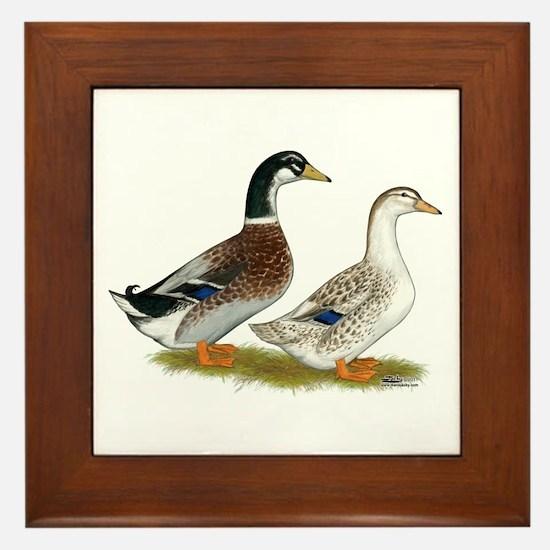 Appleyard Silver Ducks Framed Tile