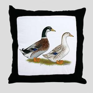 Appleyard Silver Ducks Throw Pillow