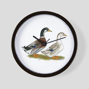 Appleyard Silver Ducks Wall Clock