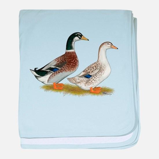 Appleyard Silver Ducks baby blanket
