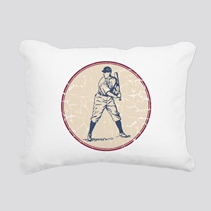 Baseball Player Rectangular Canvas Pillow