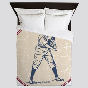 Baseball Player Queen Duvet