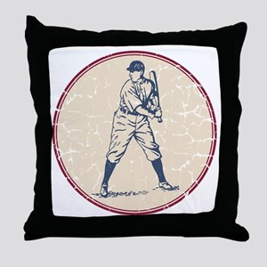 Baseball Player Throw Pillow