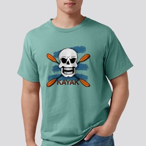 Kayak Skull Mens Comfort Colors Shirt