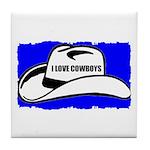 I LOVE COWBOYS Tile Coaster