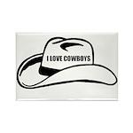 I LOVE COWBOYS Rectangle Magnet (100 pack)