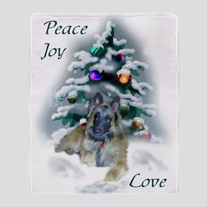 Belgian Tervuren Christmas Throw Blanket