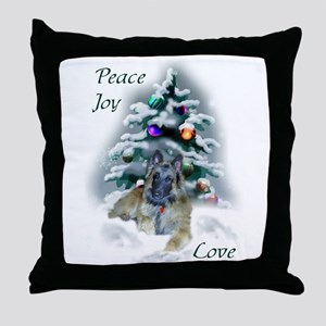 Belgian Tervuren Christmas Throw Pillow