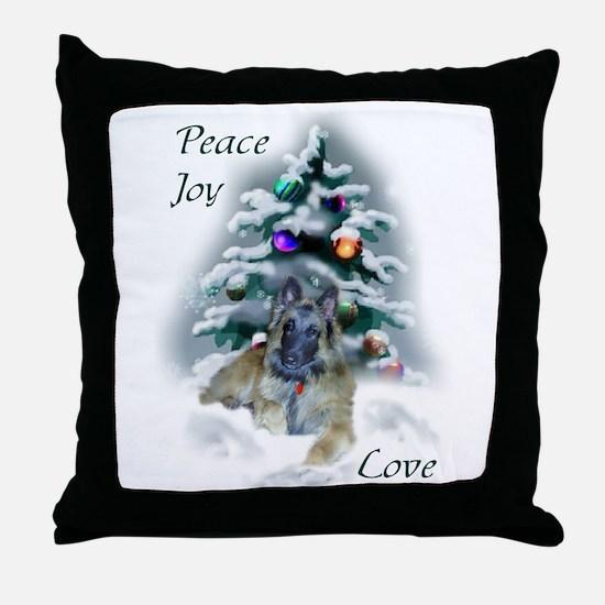 Belgian Tervuren Christmas Throw Pillow