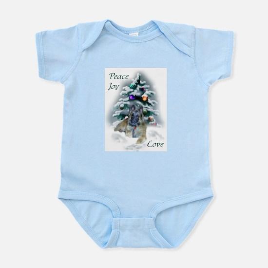 Belgian Tervuren Christmas Baby Light Bodysuit