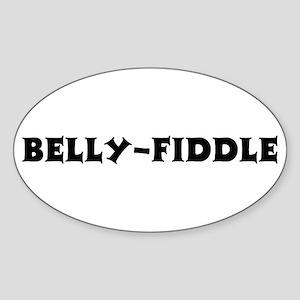 Belly-Fiddle Oval Sticker