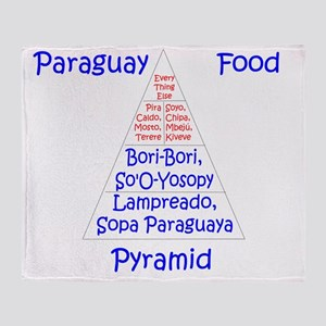 Paraguay Food Pyramid Throw Blanket