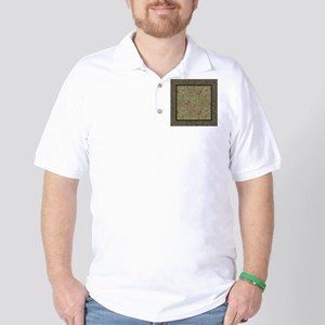 William Morris Floral lily willow art p Golf Shirt
