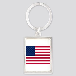 American Flag Portrait Keychain