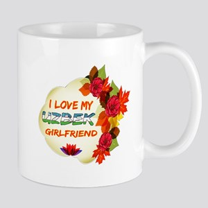 Uzbek Girlfriend Valentine design Mug