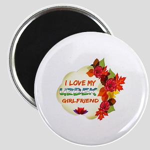 Uzbek Girlfriend Valentine design Magnet
