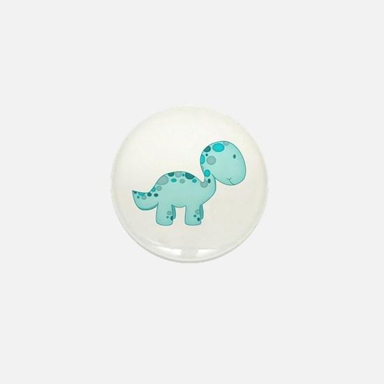 Dinosaur Blue Mini Button