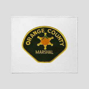 Orange County Marshal Throw Blanket