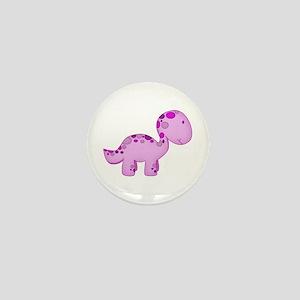 Baby Dino Purple. Mini Button