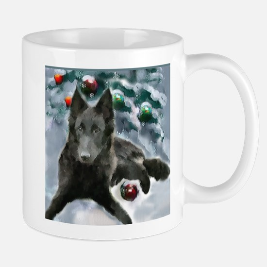 Belgian Sheepdog Christmas Mug