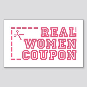 REAL WOMEN COUPON Sticker (Rectangle)