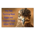 Chicken Feed Sticker (Rectangle 10 pk)