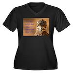 Chicken Feed Women's Plus Size V-Neck Dark T-Shirt