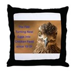 Chicken Feed Throw Pillow