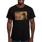 Chicken Feed Men's Fitted T-Shirt (dark)