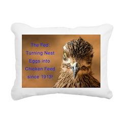 Chicken Feed Rectangular Canvas Pillow