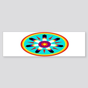 EAGLE FEATHER MEDALLION Sticker (Bumper)
