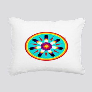 EAGLE FEATHER MEDALLION Rectangular Canvas Pillow