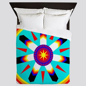 EAGLE FEATHER MEDALLION Queen Duvet