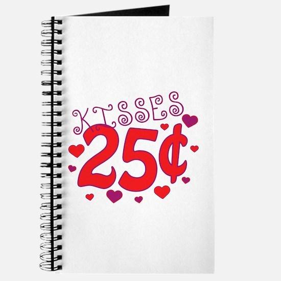 Kisses 25 cents Journal