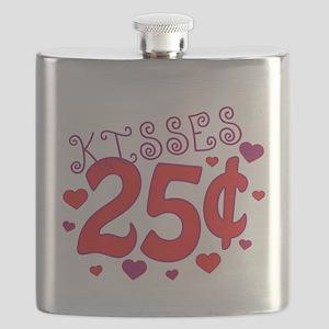 Kisses 25 cents Flask