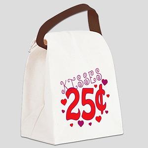 Kisses 25 cents Canvas Lunch Bag