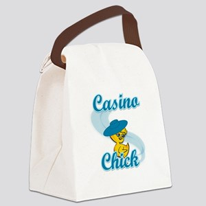 Casino Chick #3 Canvas Lunch Bag
