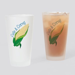 Cute And Corny Drinking Glass