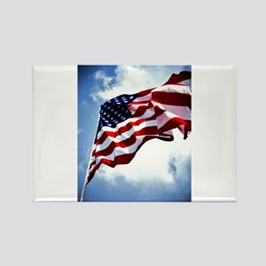 Old Glory Rectangle Magnet