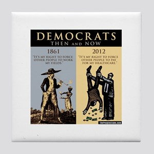 Democrats and Slavery Tile Coaster