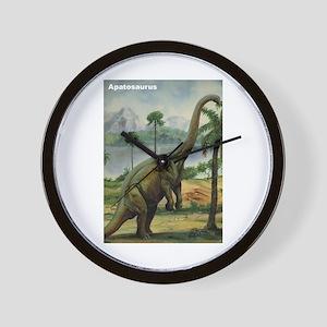 Apatosaurus Dinosaur Wall Clock