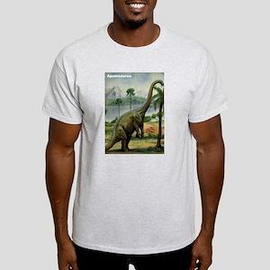 Apatosaurus Dinosaur (Front) Ash Grey T-Shirt