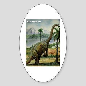 Apatosaurus Dinosaur Oval Sticker