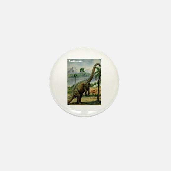 Apatosaurus Dinosaur Mini Button