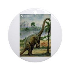 Apatosaurus Dinosaur Ornament (Round)