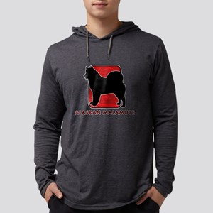 5-redsilhouette Mens Hooded Shirt