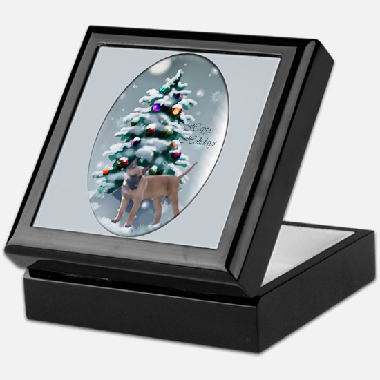 Belgian Malinois Christmas Keepsake Box